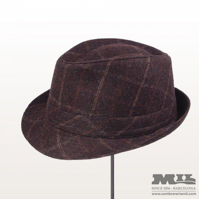 brown glad vintage hat