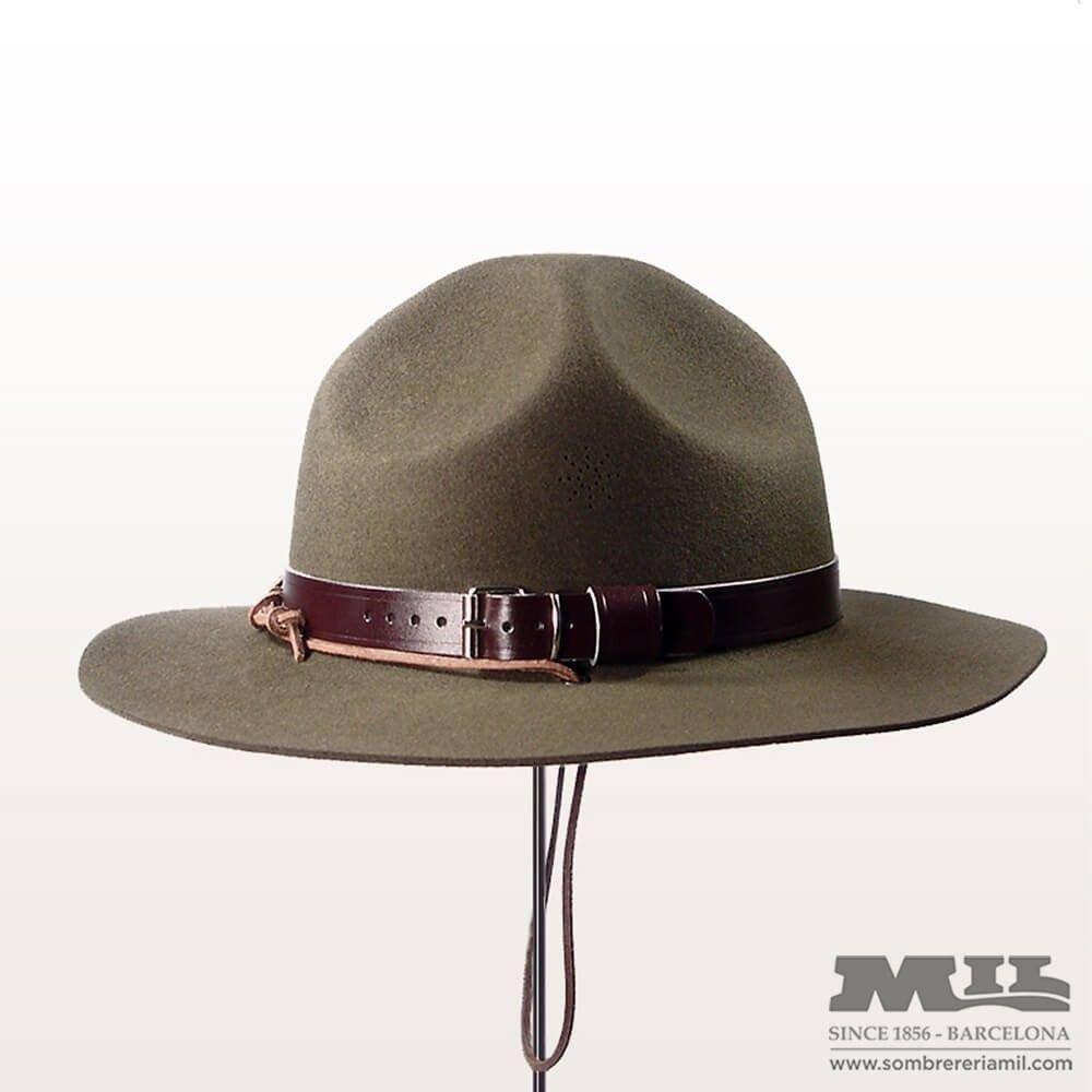 Sombrero Boy Scout fabricado con fieltro de lana de gran calidad f4cbf605570