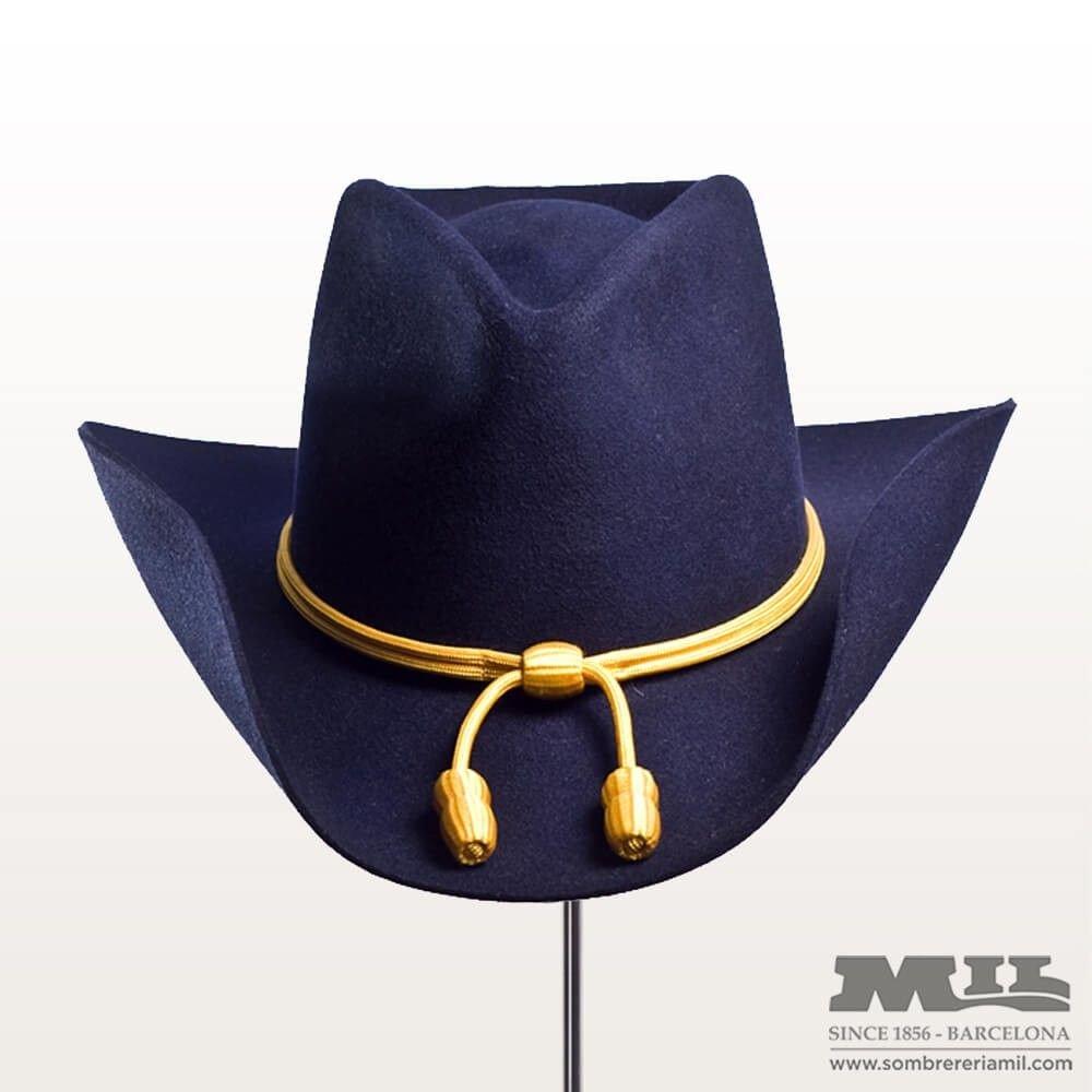 sombrero Cowboy de color azul fabricado 100% con fieltro de lana 6eb9b0181f8