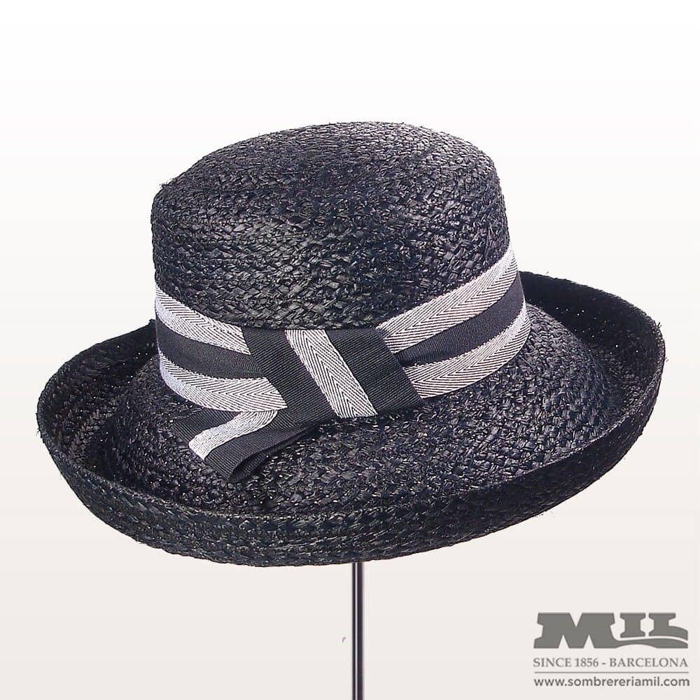 e98f3d5502 Sombrero Pamela para mujer hecho de rafia perfecto para playa y viaje