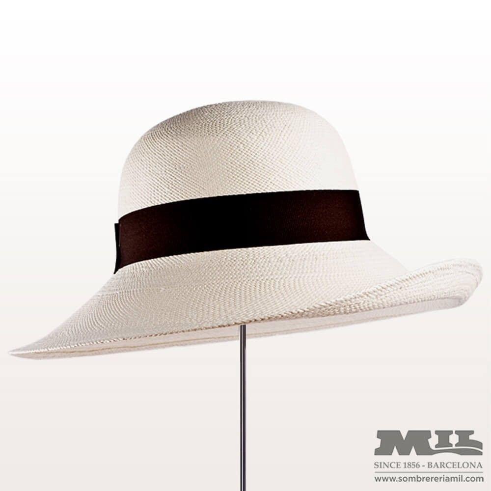 3be1068cd1e3a Sombrero pamela panamá de estilo Agatha Christie para verano