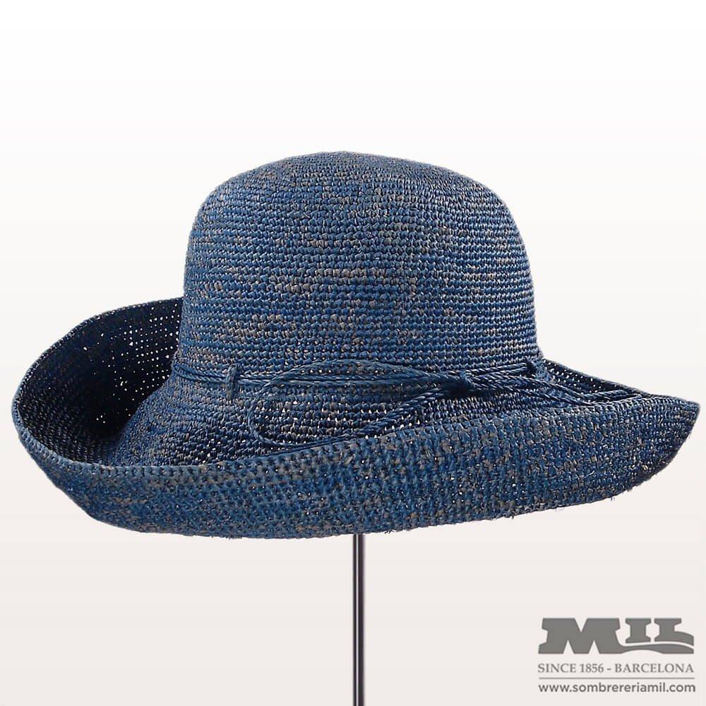 Sombrero Pamela de rafia para mujer perfecto para viaje 0469fc91354