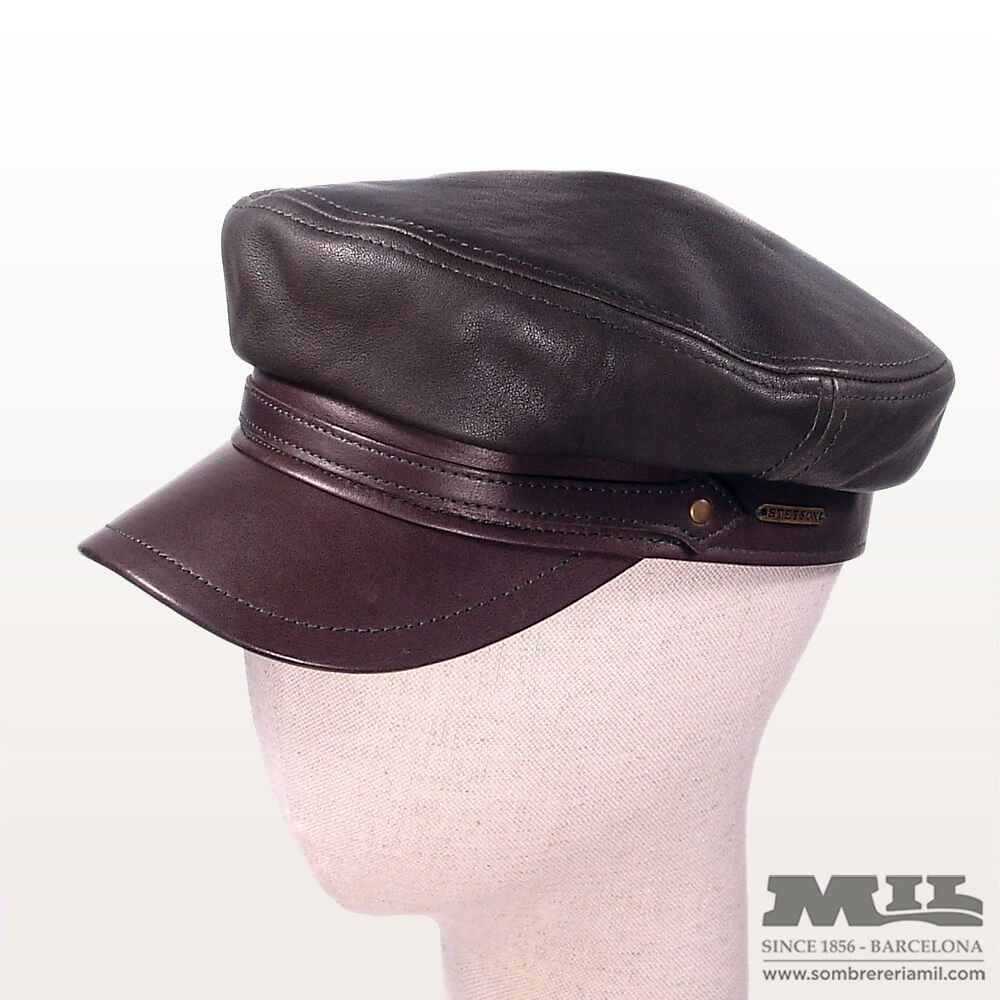 466ddb76 Stetson leather cap Handcrafted seafaring style