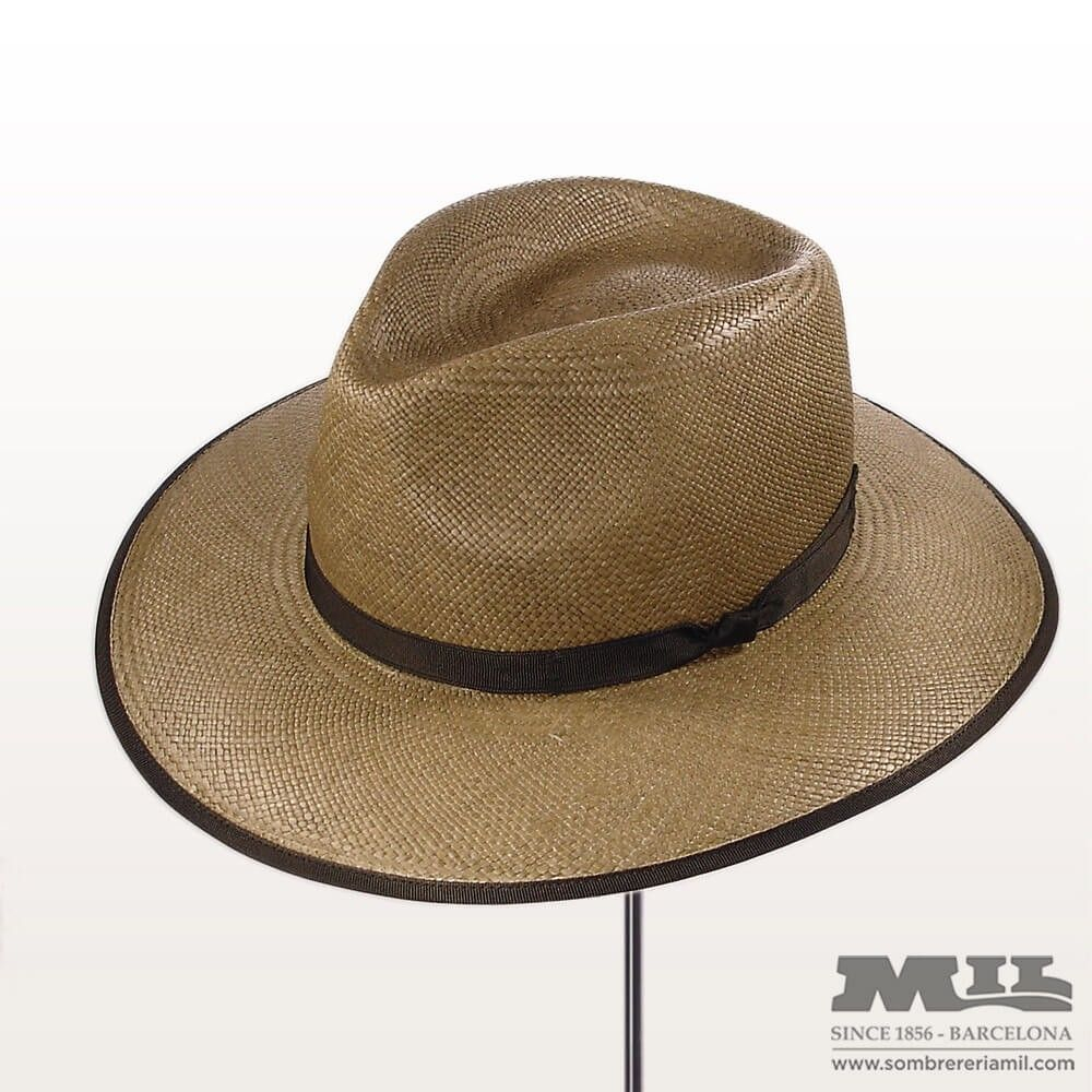 a7948e2f0da32 sombrero panamá Xalo de Signes de ala ancha en color tostado natural