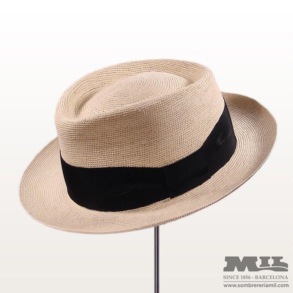 153e06d5012af0 Panama Pork Pie Denia hat by Signes in natural tan
