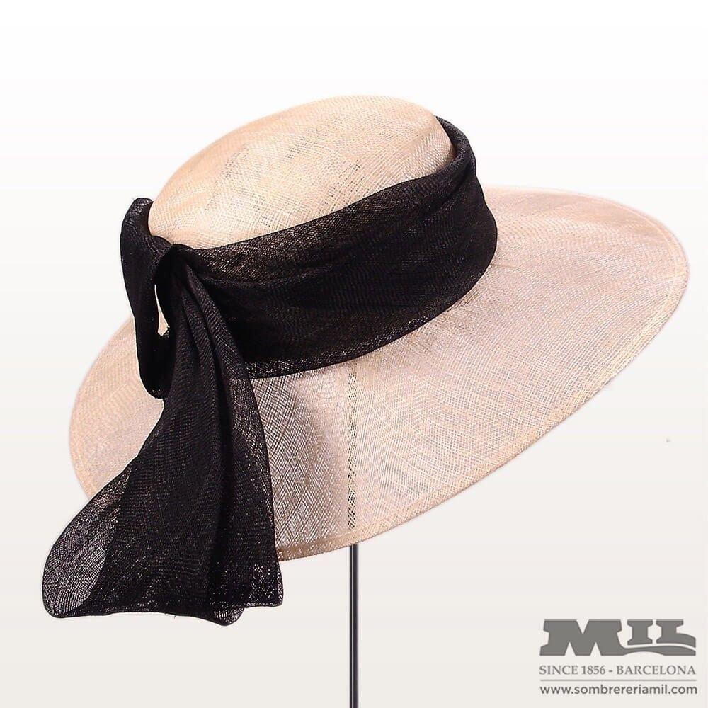 Sombrero Pamela para boda a6a6844a67d