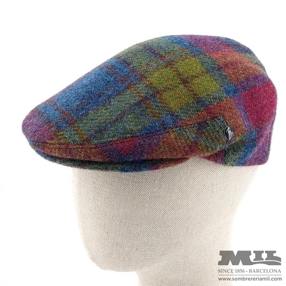 Gorra inglesa Hebert plegable lana Harris Tweed cuadros multicolor 64e9f712eb5