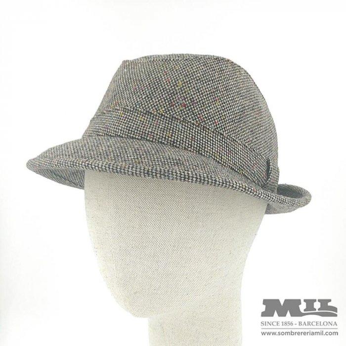 Sombrero gris de chispas de color