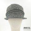 Sombrero chocle gris con chispas de color