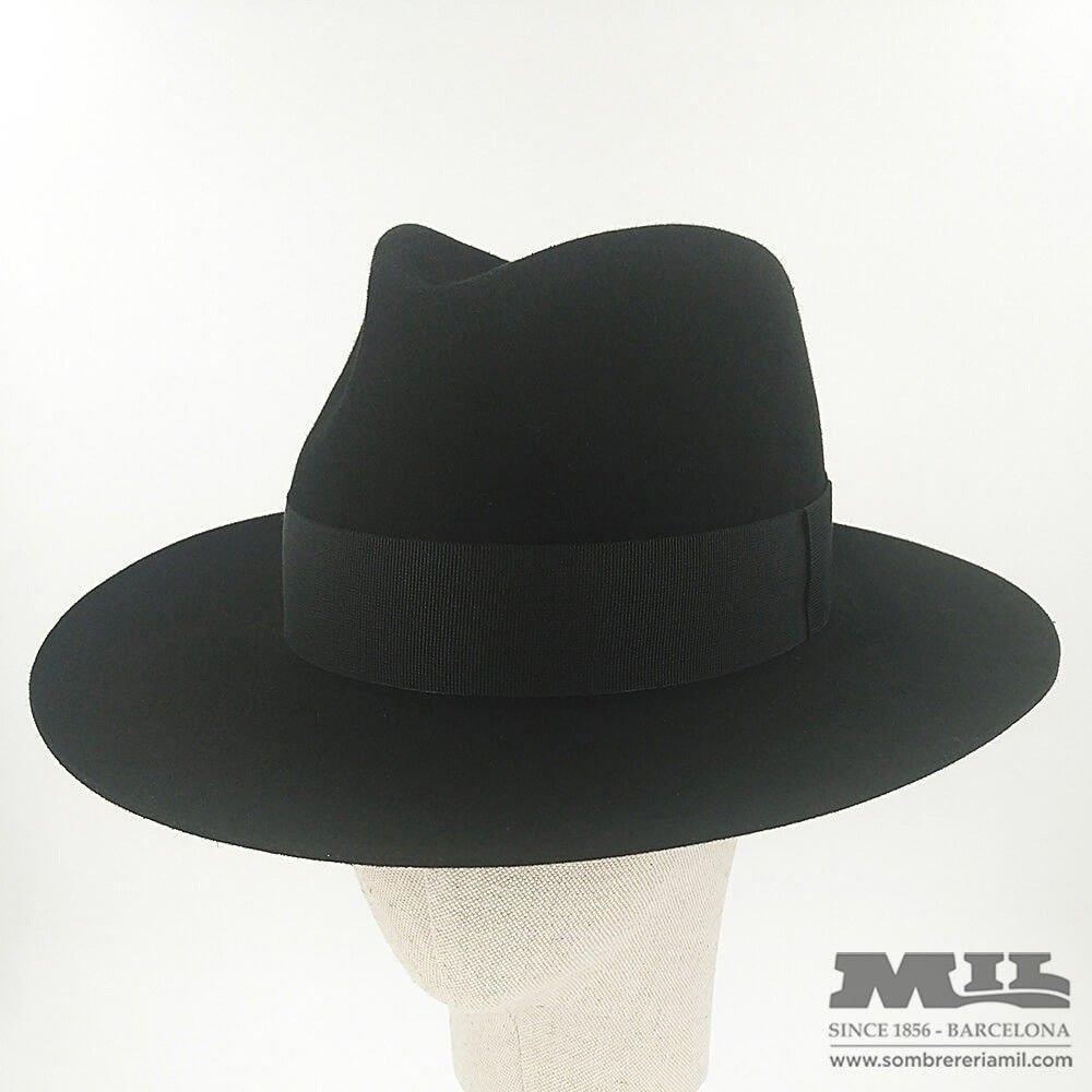 Nuevo negro español sombrero de fieltro jpg 1000x1000 Sombrero naranjo c16baa8cdf3
