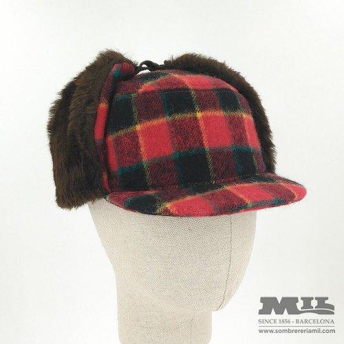 142a17e9d43 Russian style plaid cap Cambres