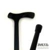 Straight black cane