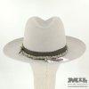 Sombrero Fedora perla con cuerda