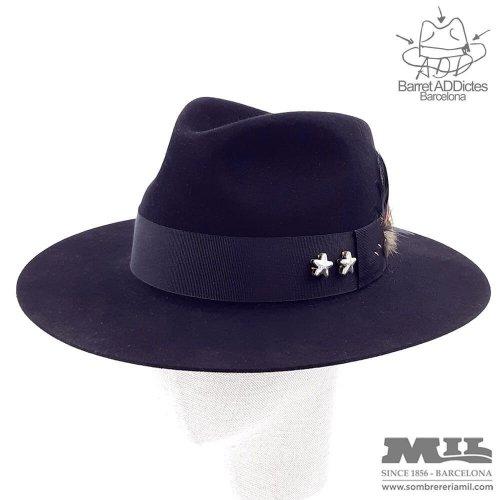 Flat Fedora hat