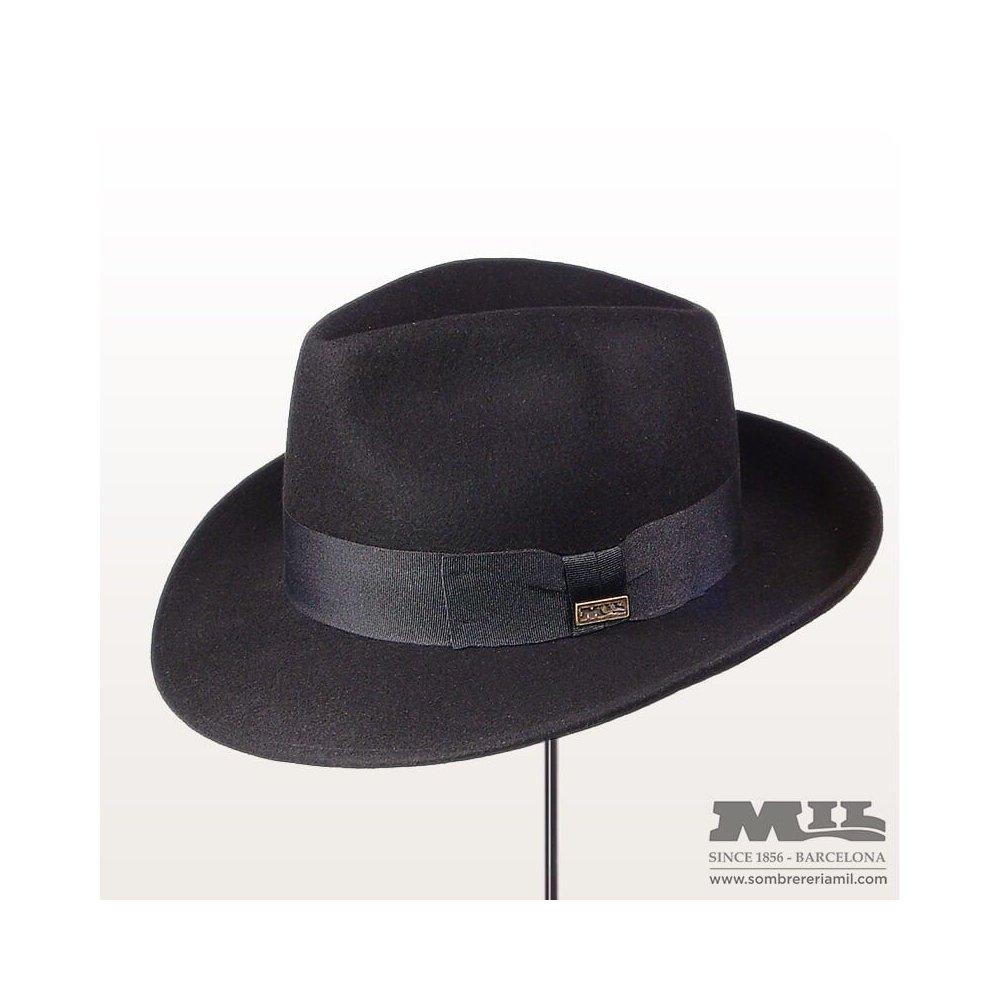 Sombrero de ala ancha en fieltro de lana impermeabilizado 9348c9a07eb