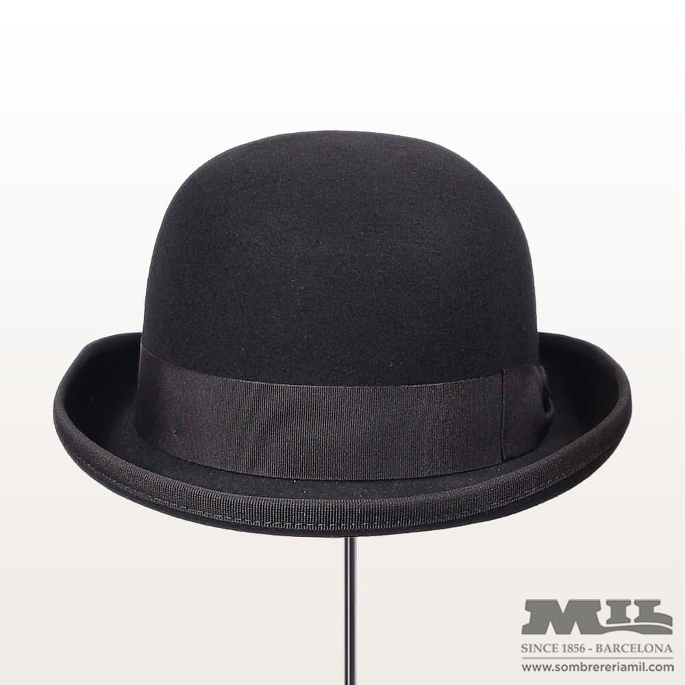 El Sombrero Bombín Crushable fabricado 100% con lana natural 57319a2853e