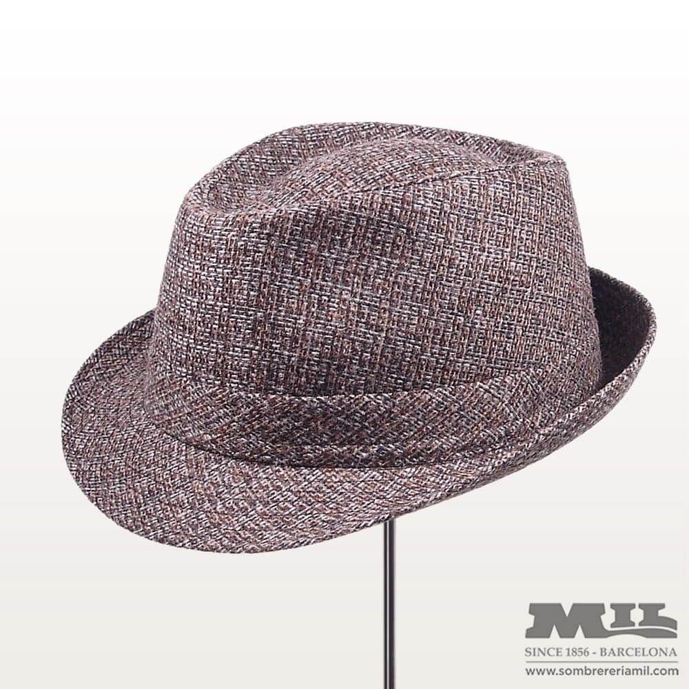 sombrero vintage glad gris