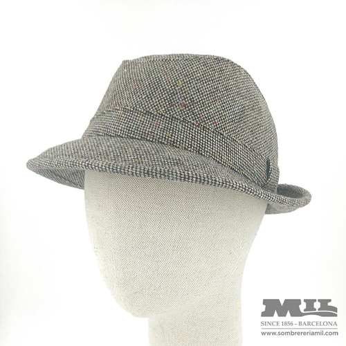 Gray hat with colored sparks