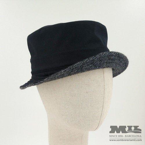 Sombrero negro Tweed Verbano