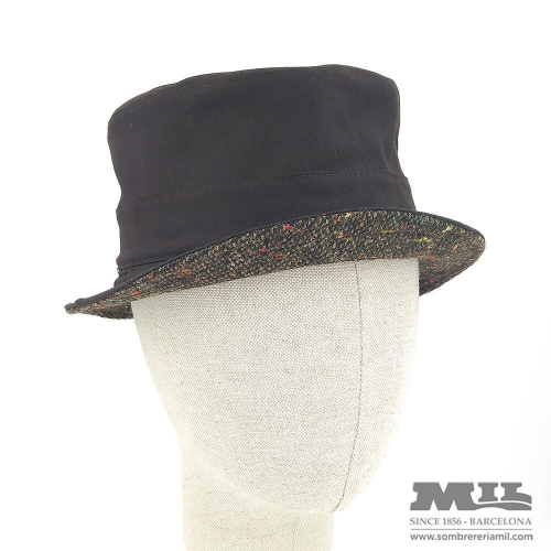 Sombrero marrón Tweed Verbano