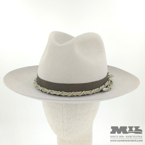Pearl Fedora hat with rope