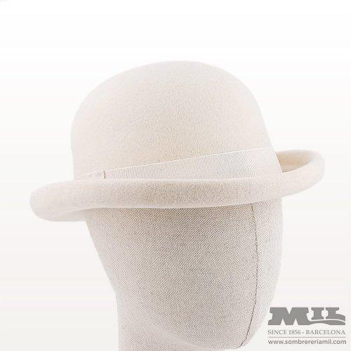 Sombrero bombín blanco