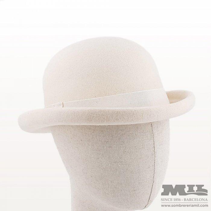 White bowler hat