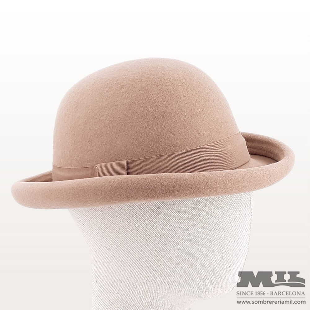 Sombrero bombín beig