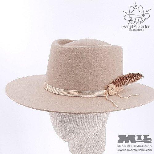 Montgomery White flat hat