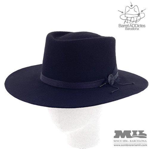 Montgomery Black flat hat