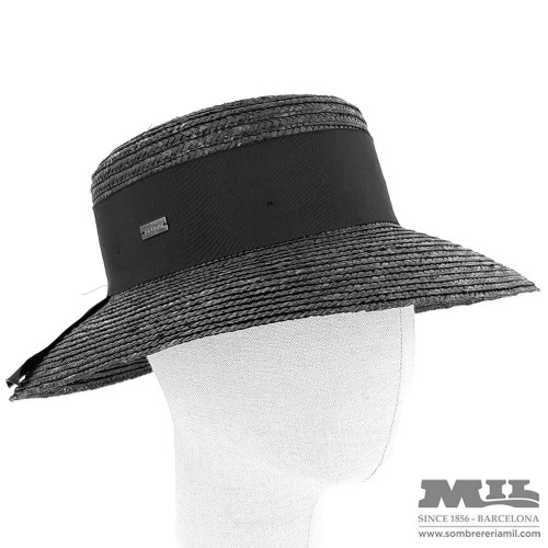 Straw Pamela Hat Marian black