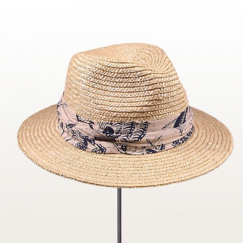 Beach Hat Fedora Straw